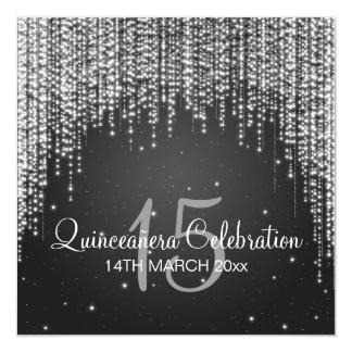 Quinceañera Celebration Party Night Dazzle Black Card