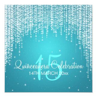 Quinceañera Celebration Party Night Dazzle Blue Invitation