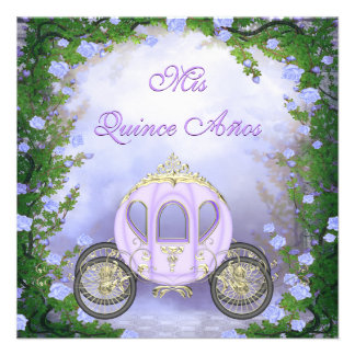 Quinceanera de princesa Carriage Enchanted púrpura