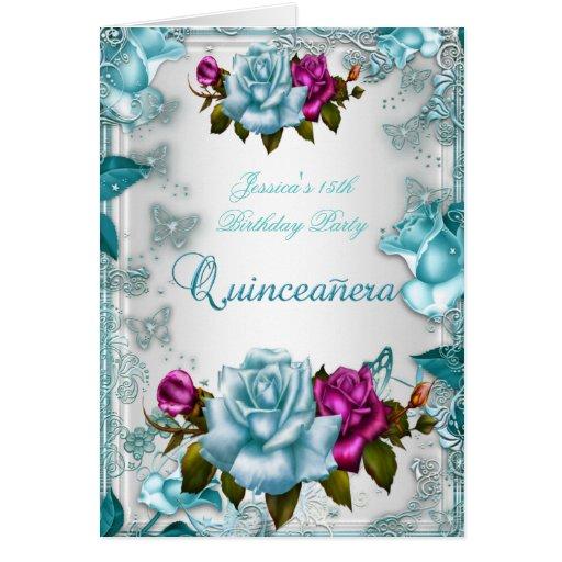 Quinceanera décimo quinto invita a color de rosa r tarjetón