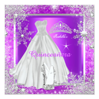 Quinceanera Elite Elegant Purple Birthday Party Card