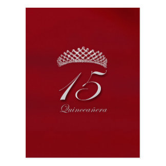 Quinceañera for the 15th birthday postcard