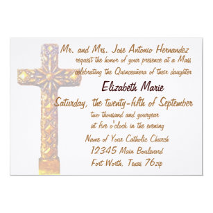 Quinceanera Golden Cross Card