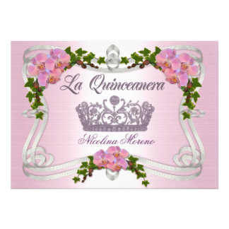 Quinceanera invitation 15th Birthday elegant tiara