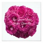 Quinceanera Invitation -- Hot Pink Roses