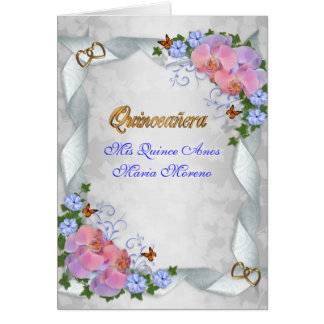 Quinceanera invitation Mis Quince Anos 15th Greeting Card