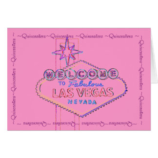 Quinceanera Las Vegas Pink Card