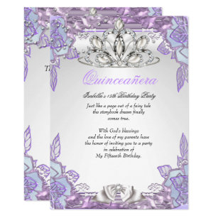 15th birthday party invitations announcements zazzle quinceanera lilac pink 15th birthday party 2 invitation filmwisefo