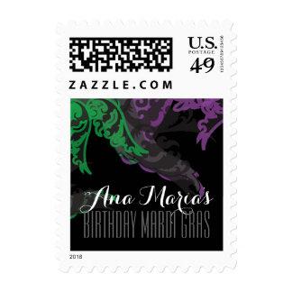 quinceañera MARDI GRAS party stamp 1