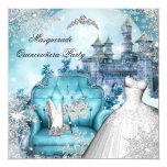 Quinceanera Masquerade Magical Princess Blue Card
