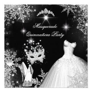 Quinceanera Masquerade Magical Princess Personalized Invitations