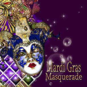 Quinceanera masquerade mask PERSONALIZE Invitation