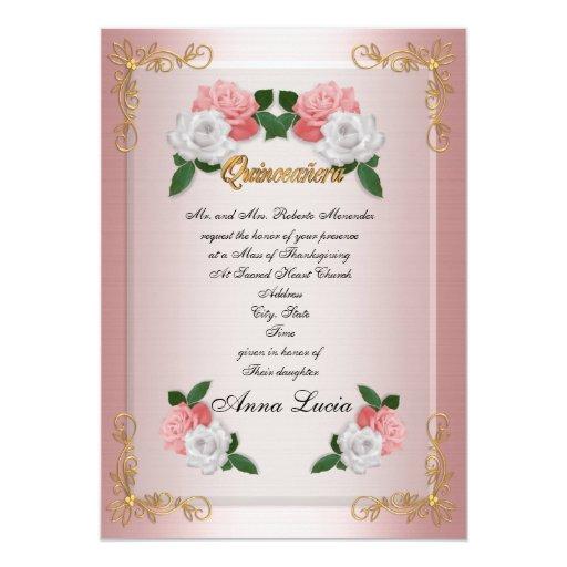 Quinceanera Mass invitation 15th Birthday elegant   Zazzle