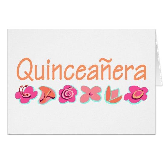 Quinceanera (peach color) card