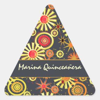 Quinceañera Calcomania De Trianguladas