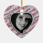 Quinceanera personalizó rosa del corazón de la adorno para reyes