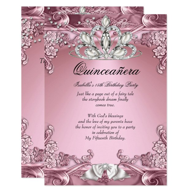quinceañera invitations  zazzle, Quinceanera invitations