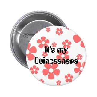 Quinceañera - Pink Flowers pin