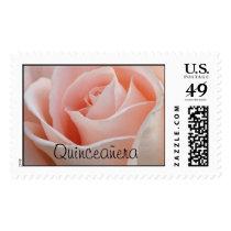 Quinceañera Pink Rose stamp