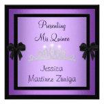 Quinceanera Purple Black Jewel Tiara Formal 1 Custom Announcement