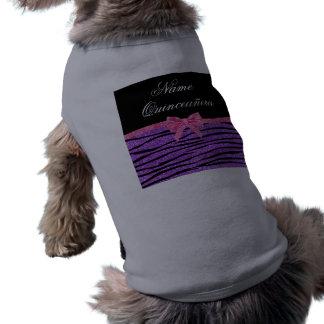 Quinceañera púrpura conocido de encargo de la cebr camiseta de perrito