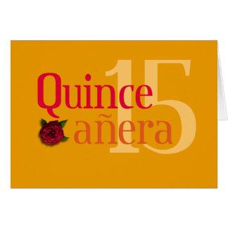 Quinceañera Rose card