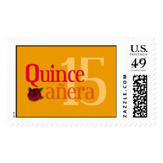 Quinceañera Rose stamp