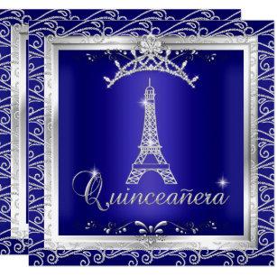 Royal Blue Quinceanera Invitations Zazzle