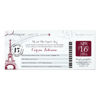 Quinceanera Silver Gray and Burgundy | Paris Card
