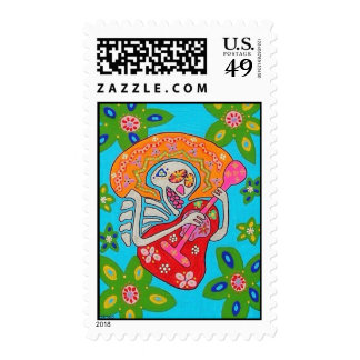 Quinceanera Stamp - Mariachi Serenade Day of Dead