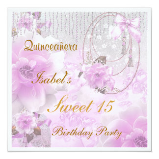 Quinceanera Sweet 15 Birthday Invitation