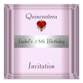 "quinceanera, sweet, 15,  Invitation save the date 5.25"" Square Invitation Card"