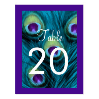 Quinceanera Teal and Purple Peacock Postcard