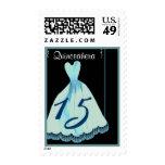 QUINCEANERA - Vestido del azul de la aguamarina Envio