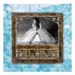 Quinceanera Vintage Photo Card Star Blue
