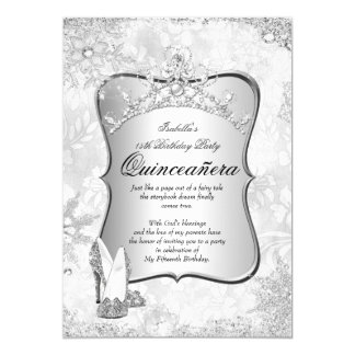 Quinceanera Winter Wonderland Silver Snowflake 2 Card