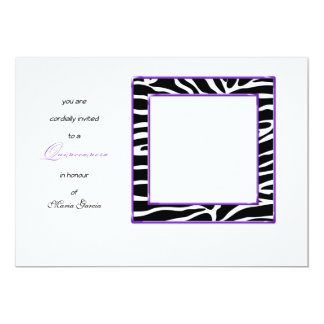 Quinceanera Zebra Themed 15th Birthday Invitation