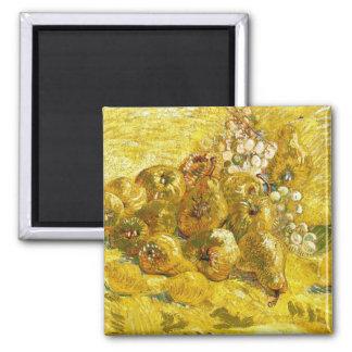 Quinces, Lemons, Pears and Grapes Vincent van Gogh 2 Inch Square Magnet