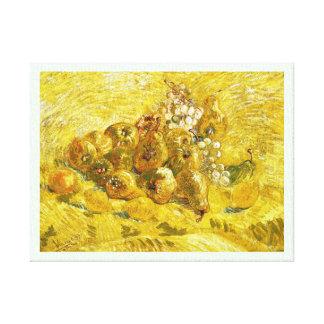 Quinces, Lemons, Pears and Grapes Vincent van Gogh Canvas Prints