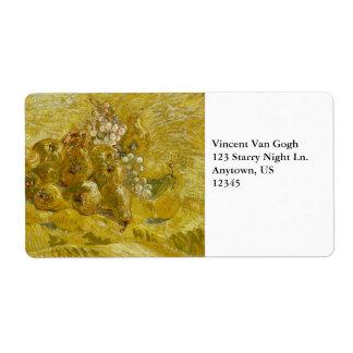 Quinces Lemons Pears Grapes by Van Gogh Labels
