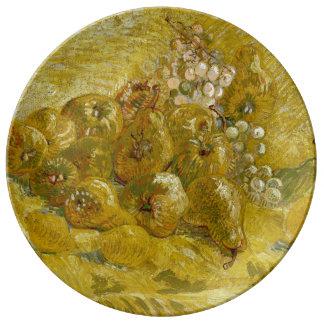 Quinces Lemons Pears Grapes by Van Gogh Porcelain Plates
