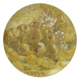Quinces Lemons Pears Grapes by Van Gogh Dinner Plates