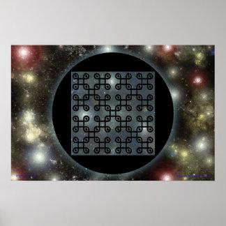Quincuncial Bio-Spacetime Nanochip Poster
