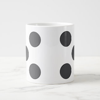Quincunx DarkGrey Dots Giant Coffee Mug