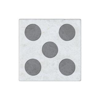Quincunx DarkGrey Dots Stone Magnet