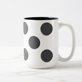 Quincunx DarkGrey Dots Two-Tone Coffee Mug