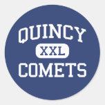 Quincy - Comets - Junior - Quincy Illinois Classic Round Sticker