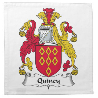 Quincy Family Crest Cloth Napkins