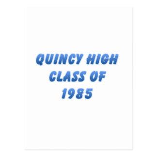 Quincy High Class of 1985 Postcard
