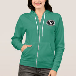 Women's Bella+Canvas Full-Zip Hoodie with Quincy Ivory Gull design
